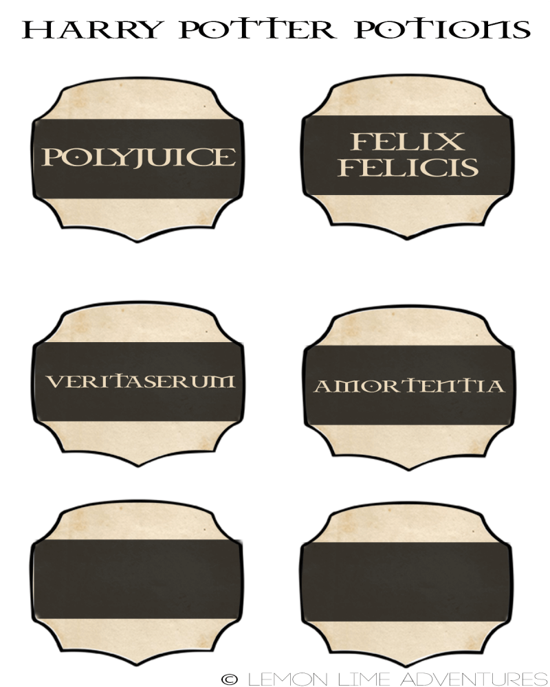 Harry Potter Potion Labels v2