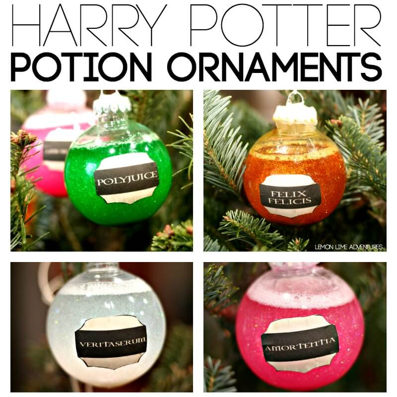 Harry Potter Potions DIY Ornaments