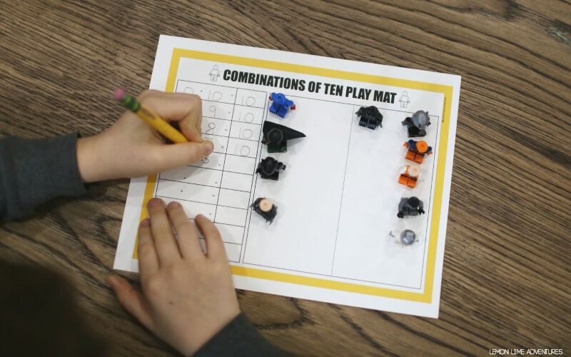 Combinations of Ten with Lego Figures