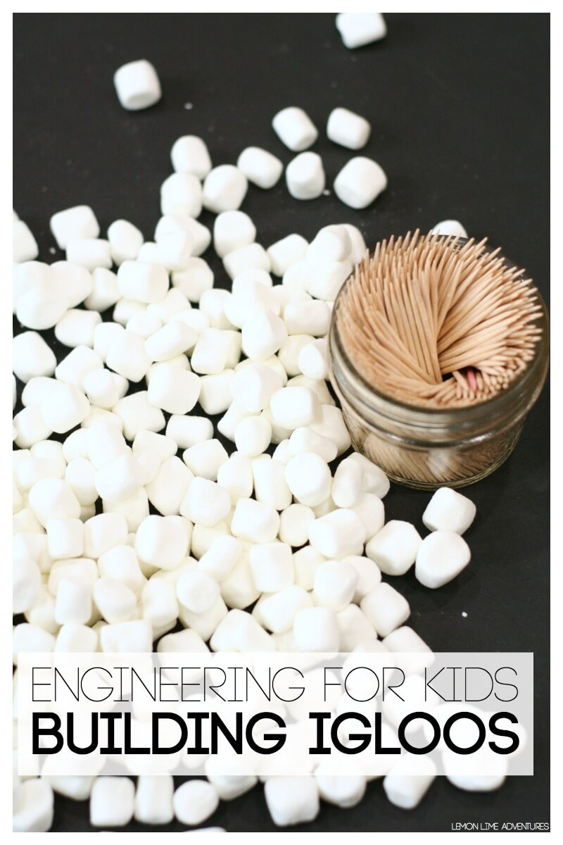 Simple Engineering for Kids Building Igloos with Marshmallows