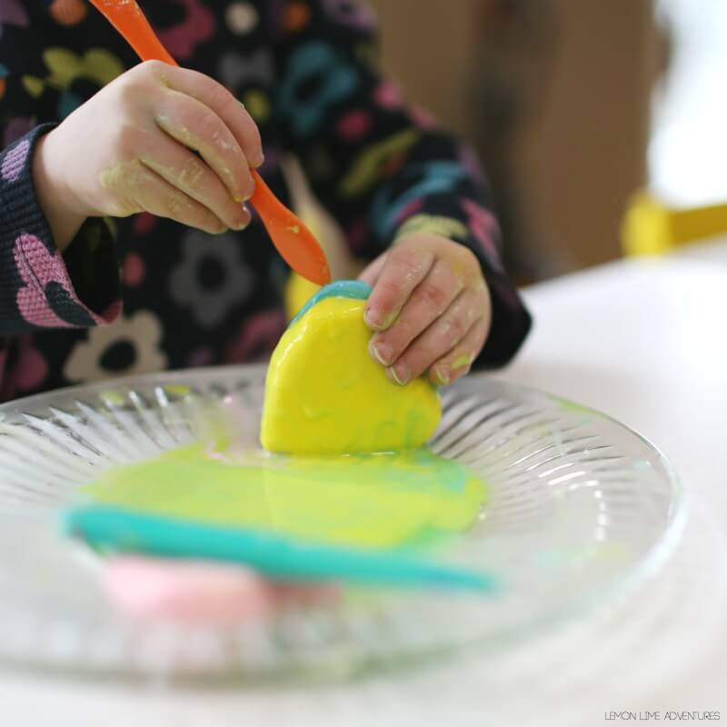 Toddler Sensory Play Recipe Valentines Day