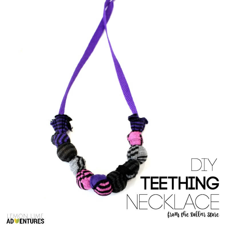 DIY Teething Necklace from the Dollar Store