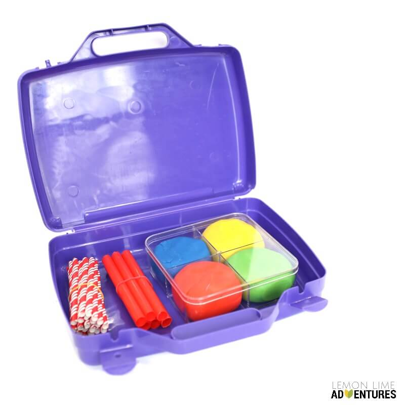 Engineering Kit for Kids with Playdough and Straws