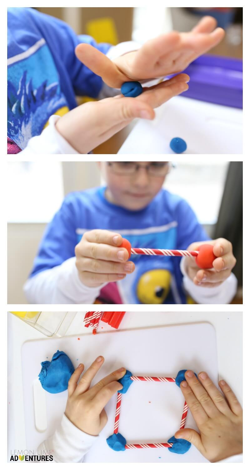Engineering for kids with Playdough