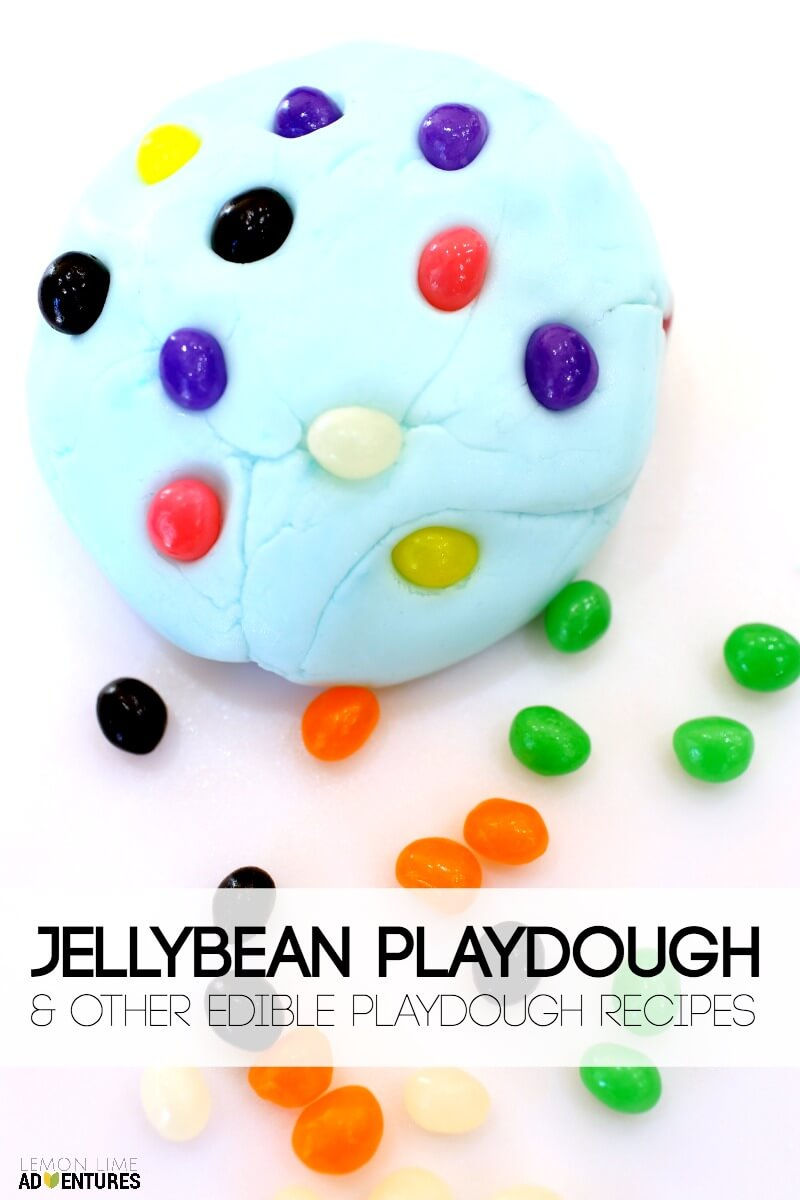 Jellybean Playdough and Other Edible Playdough Recipes