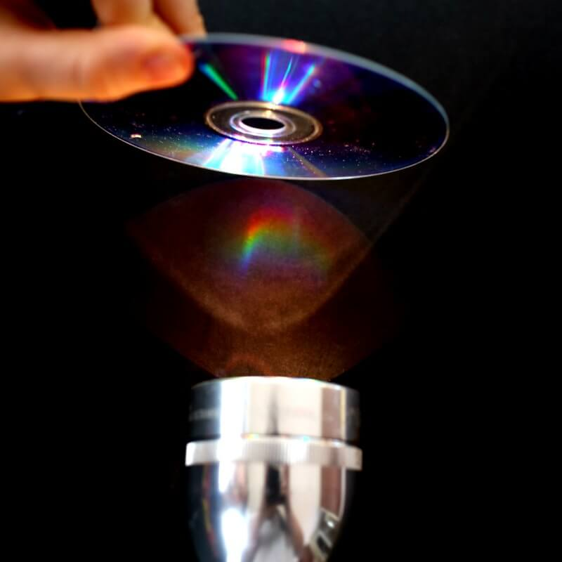 Making a Rainbow with a CD and Black Paper