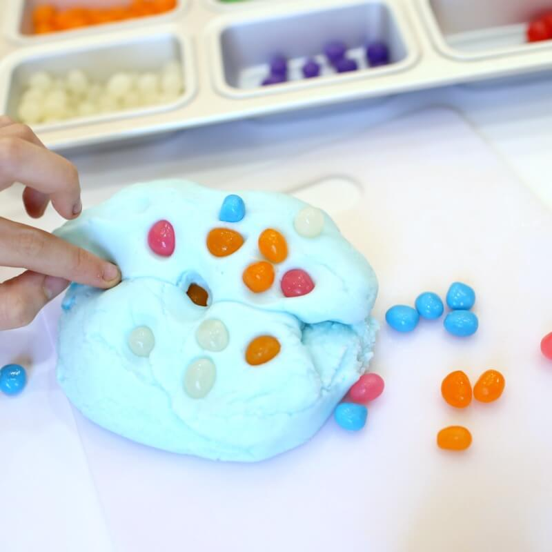 Playing with Jellybean Playdough
