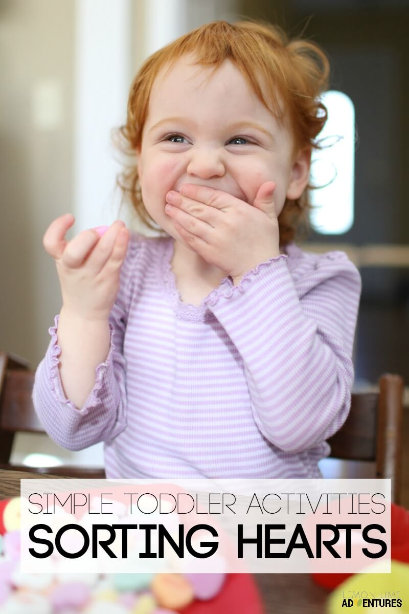 Simple Toddler Activities Sorting Conversation Hearts