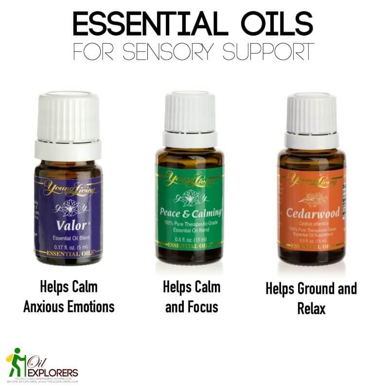essential oils for Sensory support