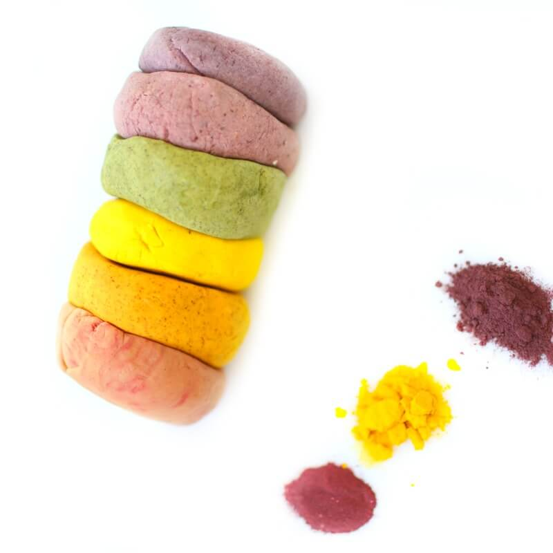Dye free Natural Play Dough with Beet Powder