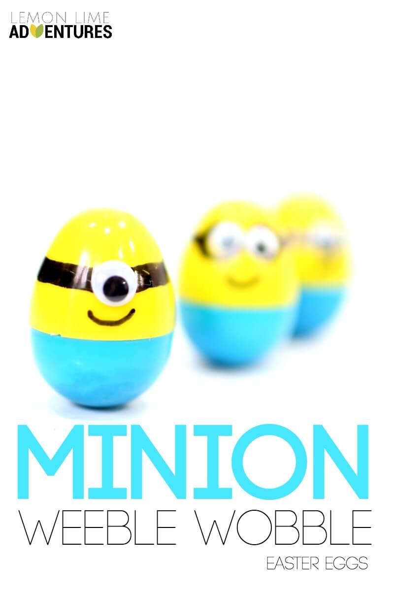 super simple minion weeble wobble easter eggs