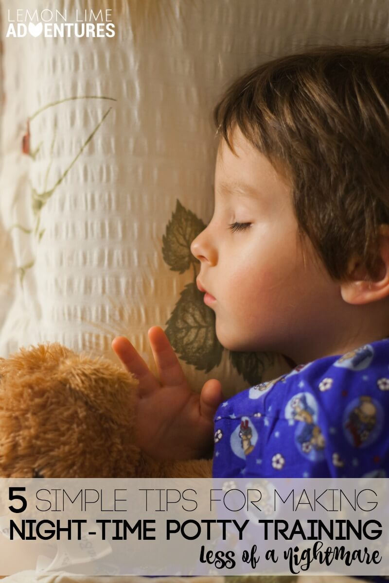 Night Time Potty Training Tips that Make it Less of a Nightmare