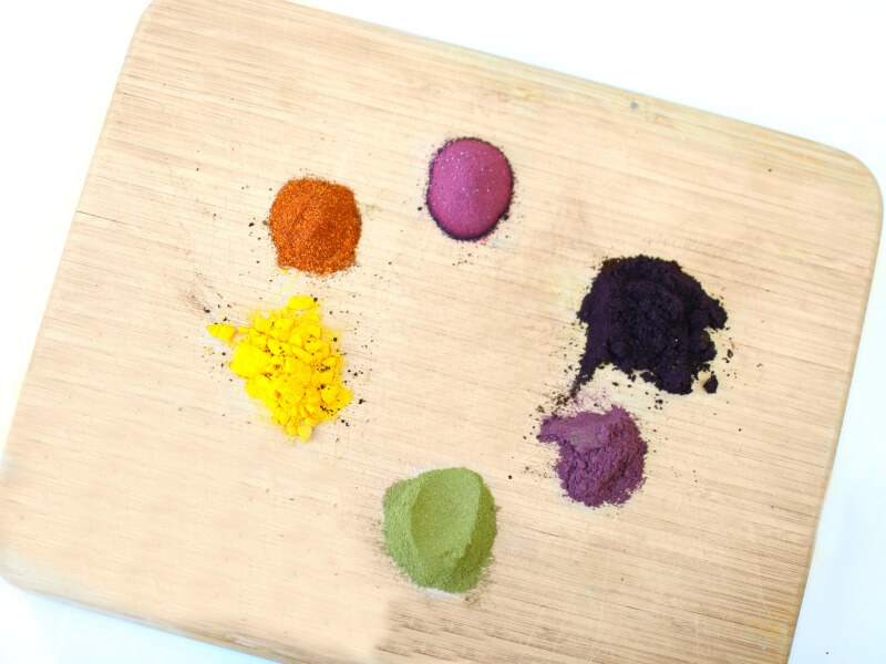 natural dyes for natural play dough