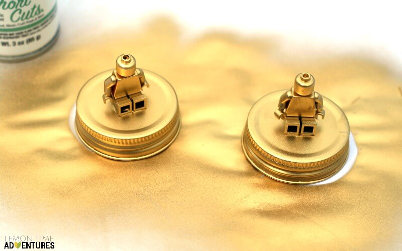 Gold Plated Lego Candy Jars