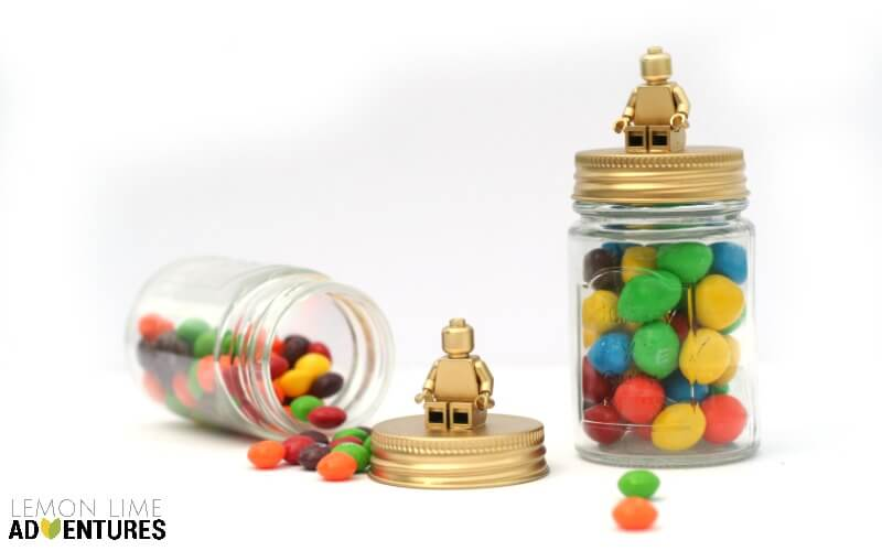 DIY Lego Candy Jars