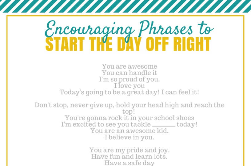 Phrases to Start the Day Off Right
