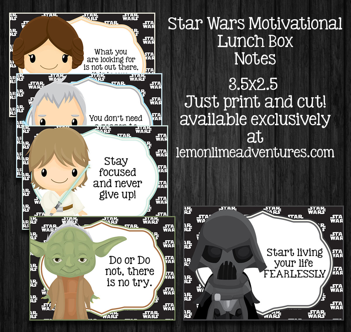 Star Wars Lunch Notes