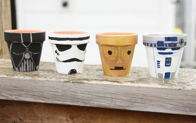 DIY Star Wars Garden Pots