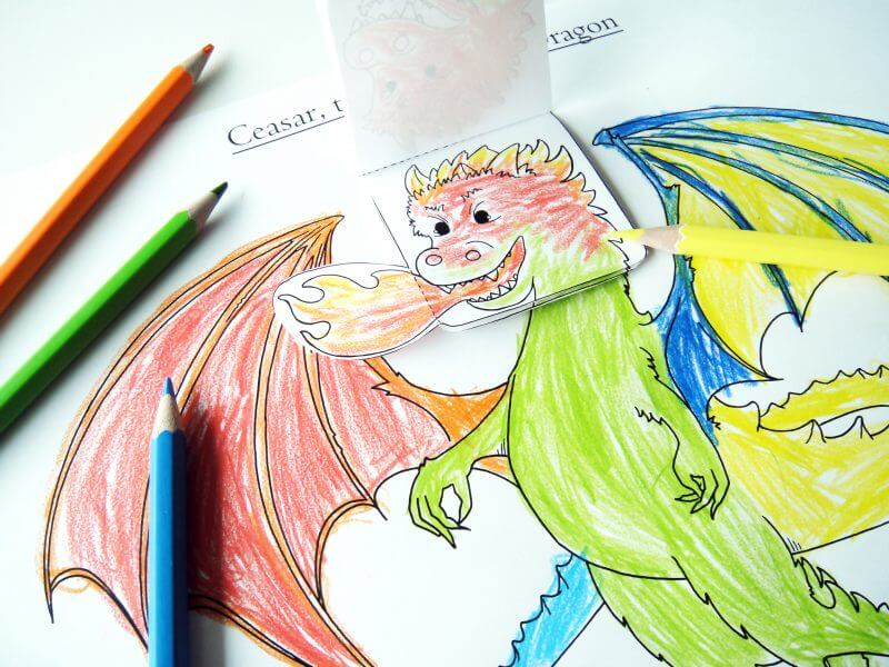 emotions game for kids- dragon themed