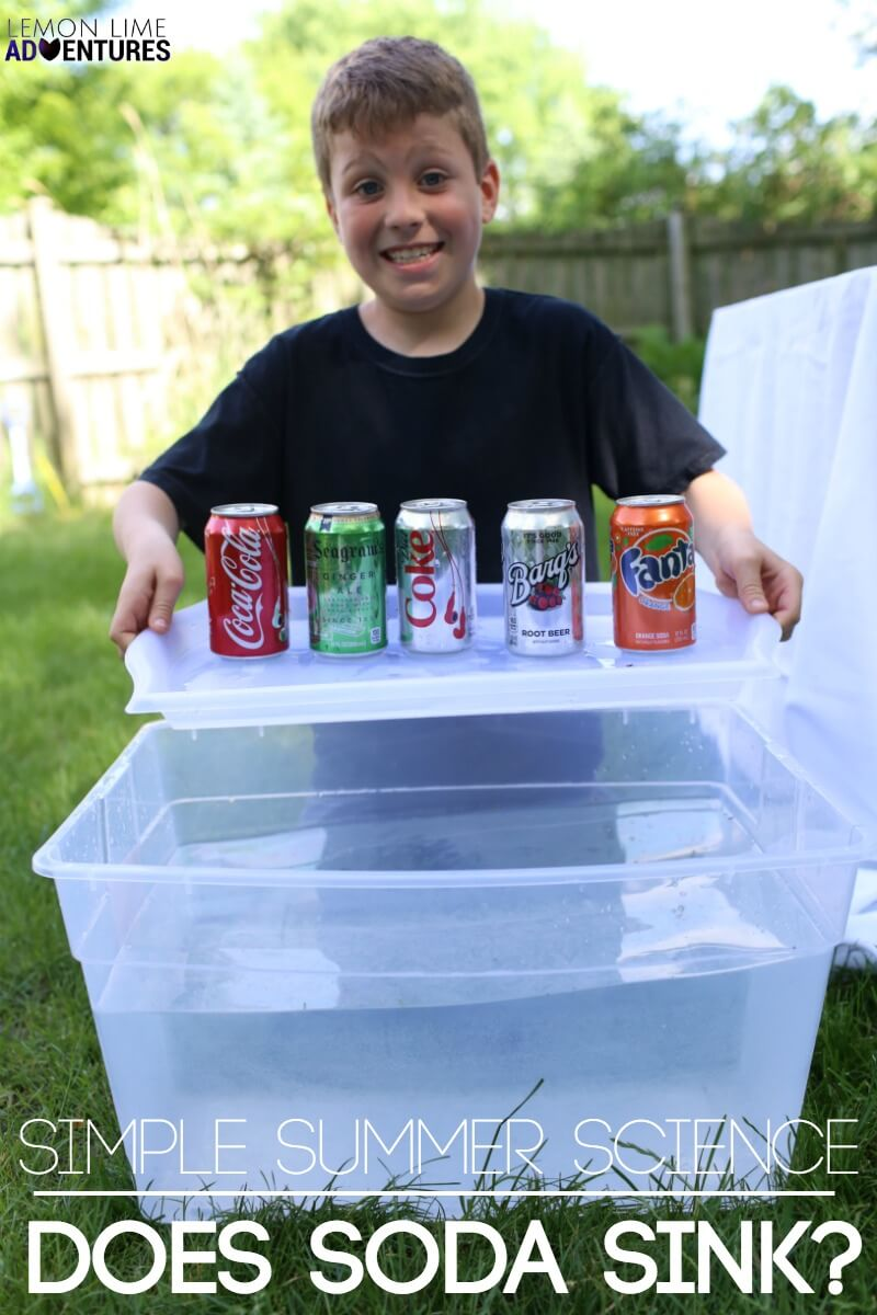 Simple Summer Science Does Soda Sink Experiment