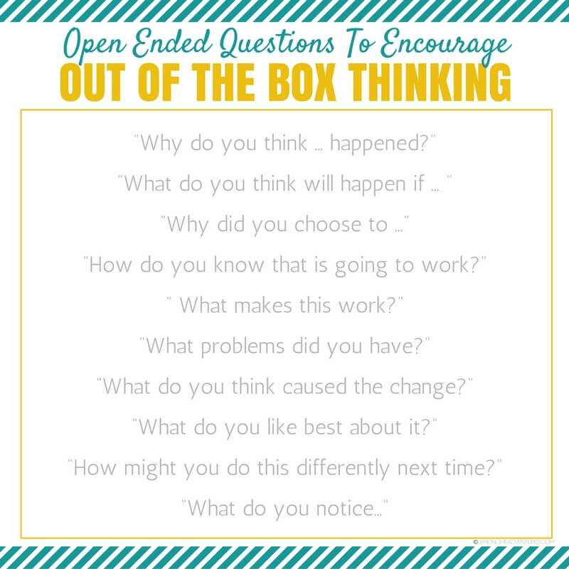 Out of the Box Open Ended Questions for Kids