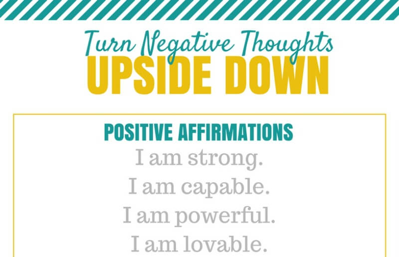 Turn Negative Thoughts Upside Down Sample