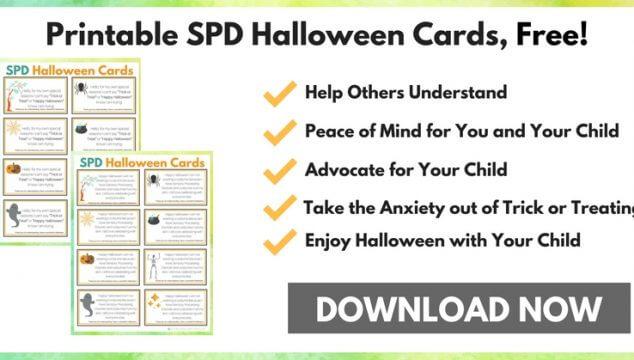 SPD Printable Halloween Cards