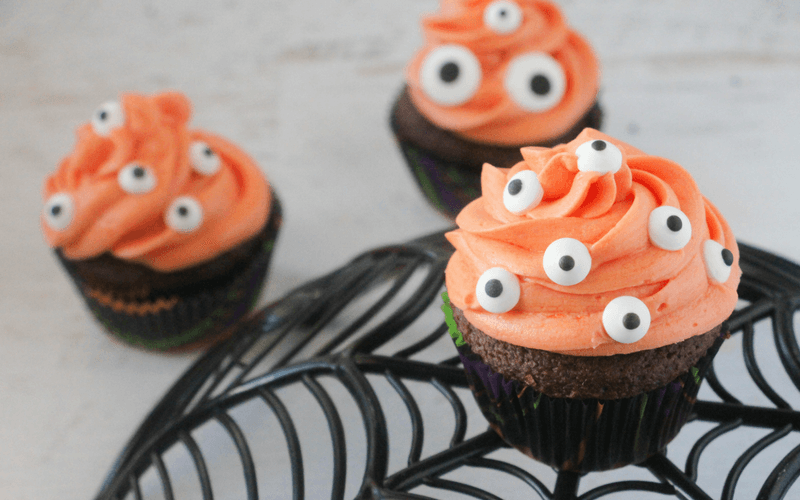 Marvelously Creepy Monster Cupcakes