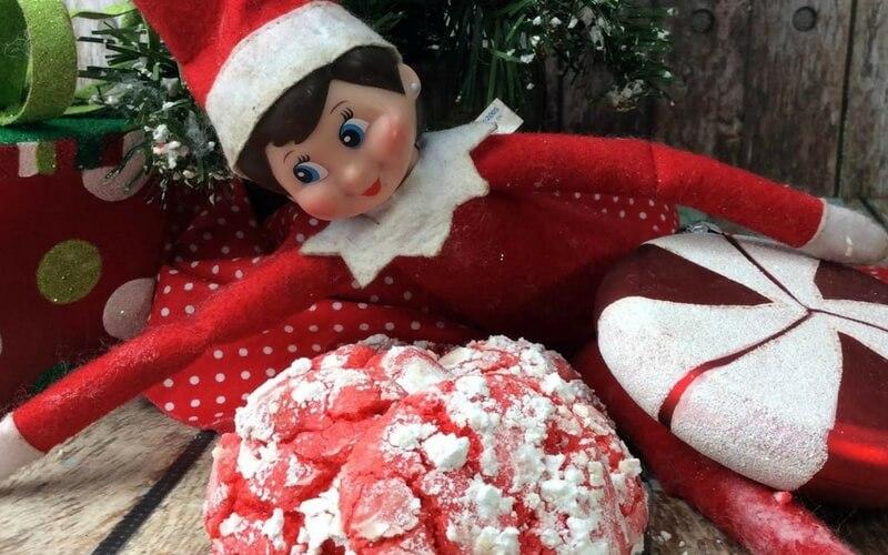Super Simple Cake Mix Elf on a Shelf Cookies!