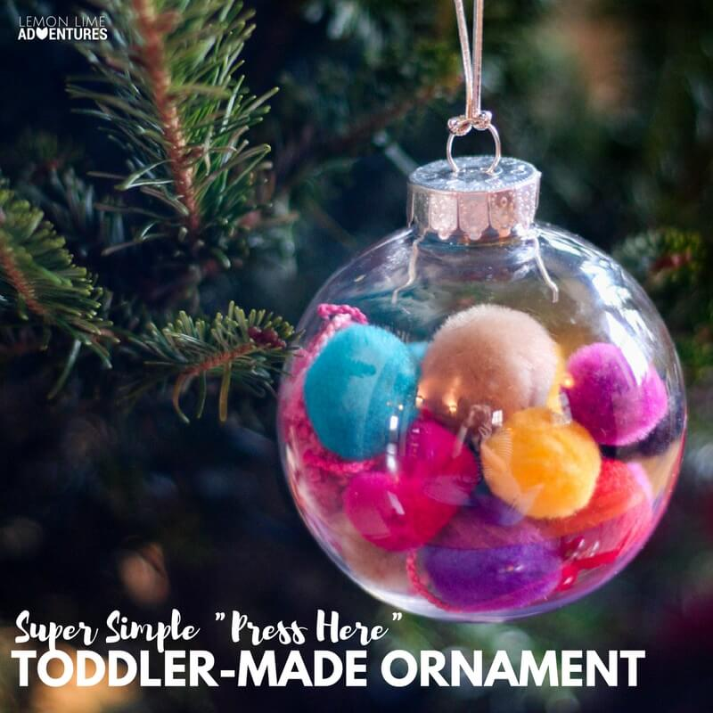 Simple Toddler Made Ornaments