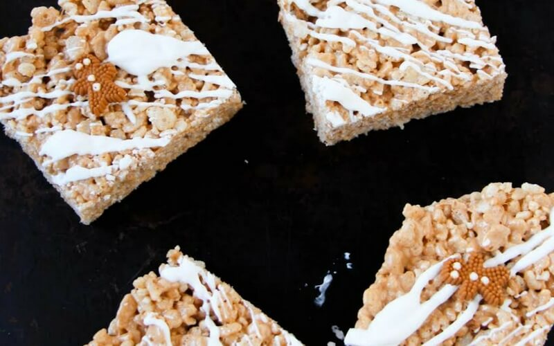 Totally Delicious Gingerbread Rice Krispies
