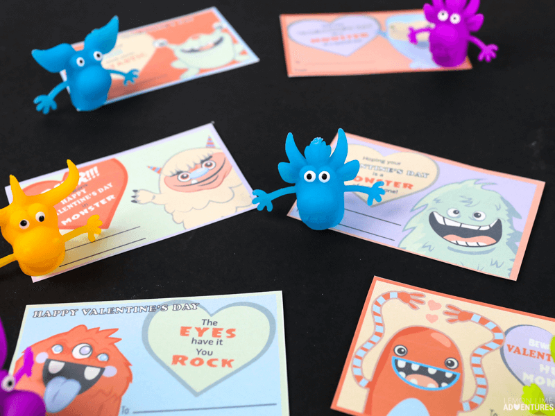 Printable Monster Non-Candy Valentines