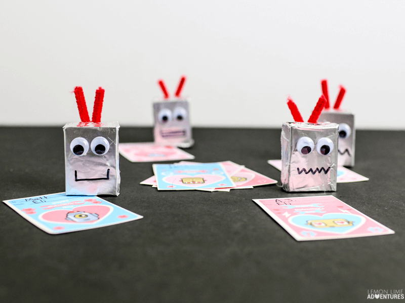 Robot Non-Candy Favors and Printable Valentines