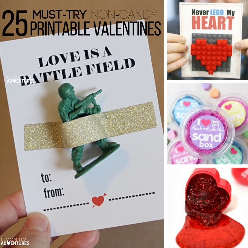 25 Must Try Valentine's Printable Non-Candy Valentines Cards