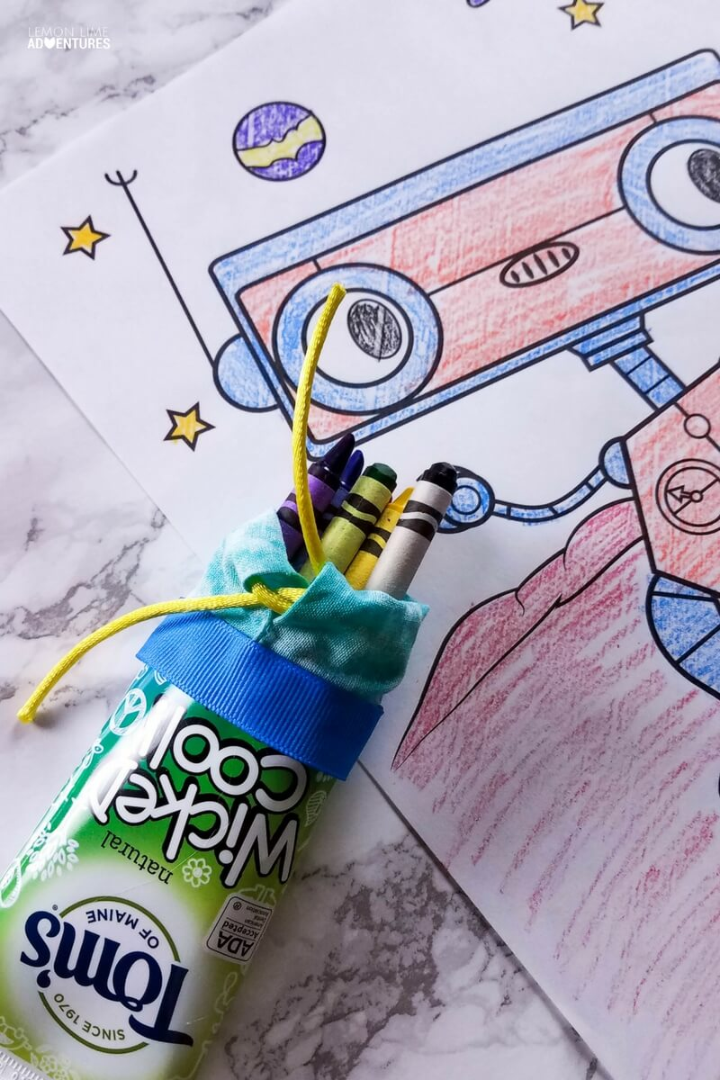 Upcycled Toothpaste Tube Crayon Holder