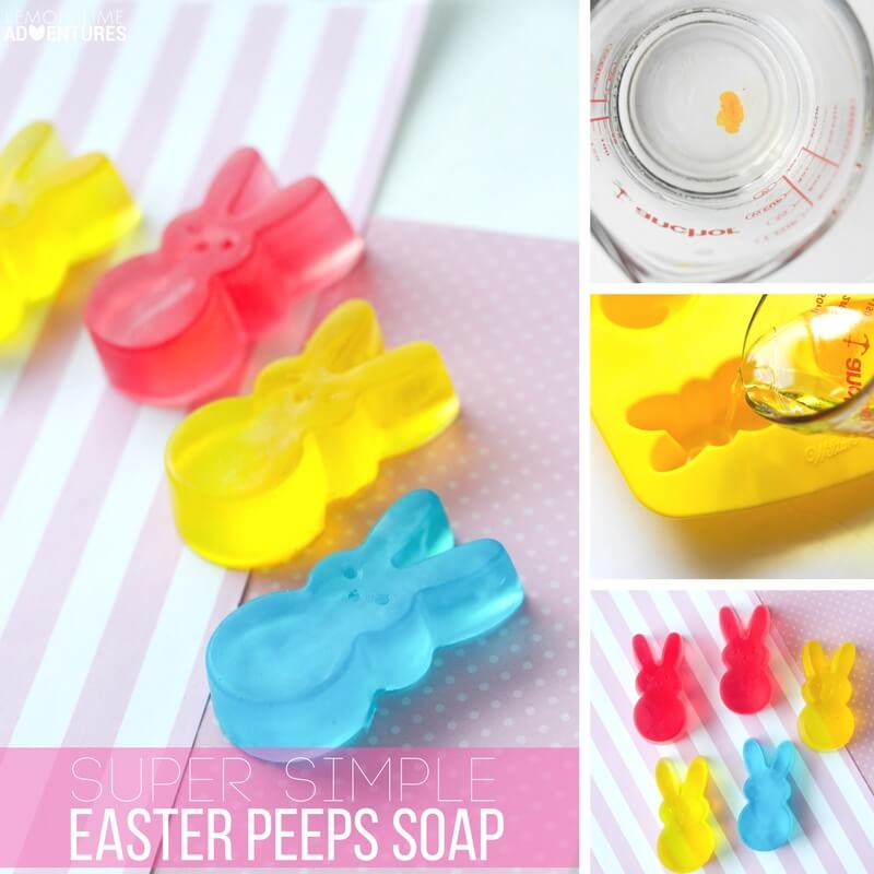 Super Simple Peeps Soap for Easter!