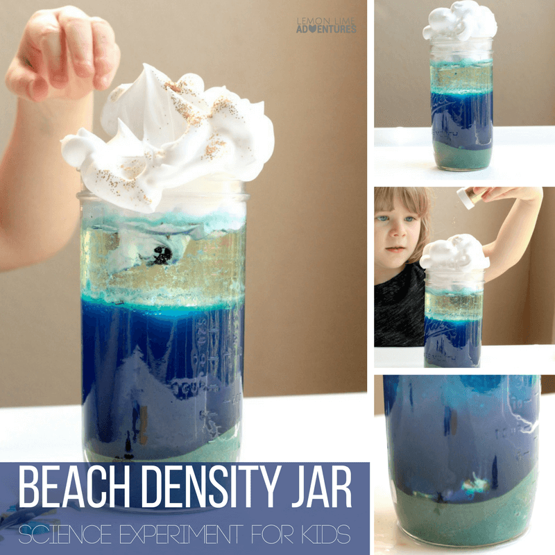 Teach kids about density and the ocean at the same time with this super fun beach density jar! Kids will love combining summer fun with science!