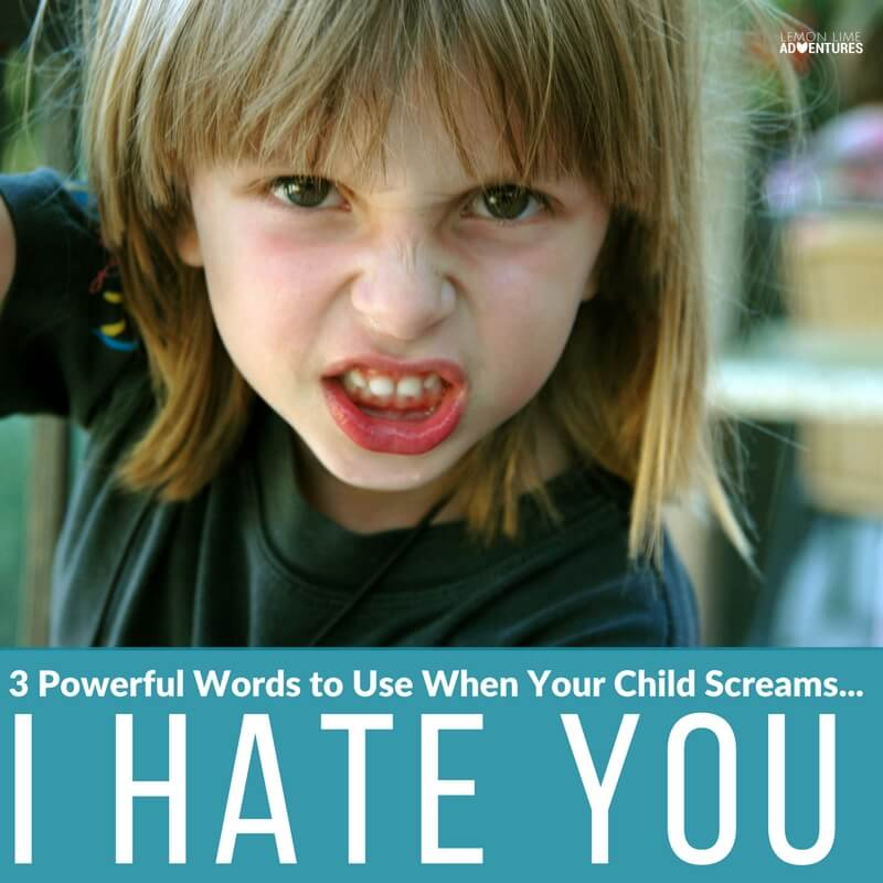 3 Powerful Words to use when Your Child Screams I Hate You