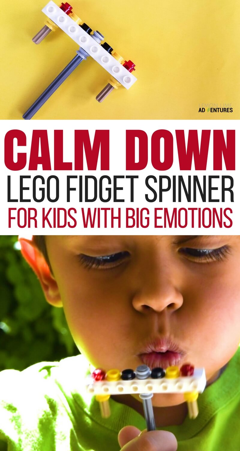 Calm Down Lego Fidget Spinner for Calming Big Emotions