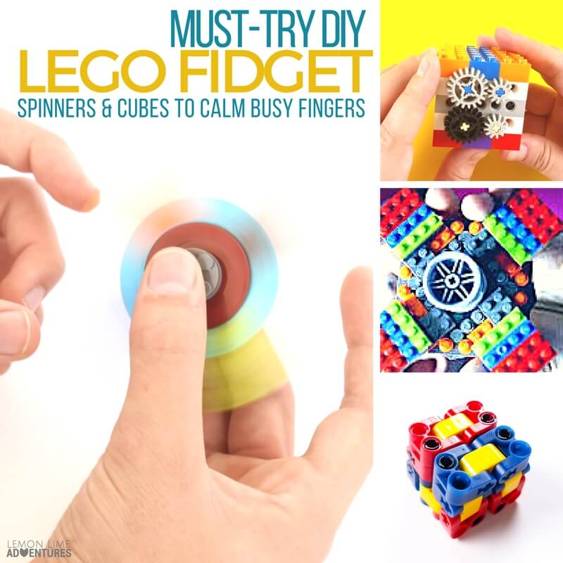 DIY Lego Fidget Spinners and Cubes for Busy Fingers