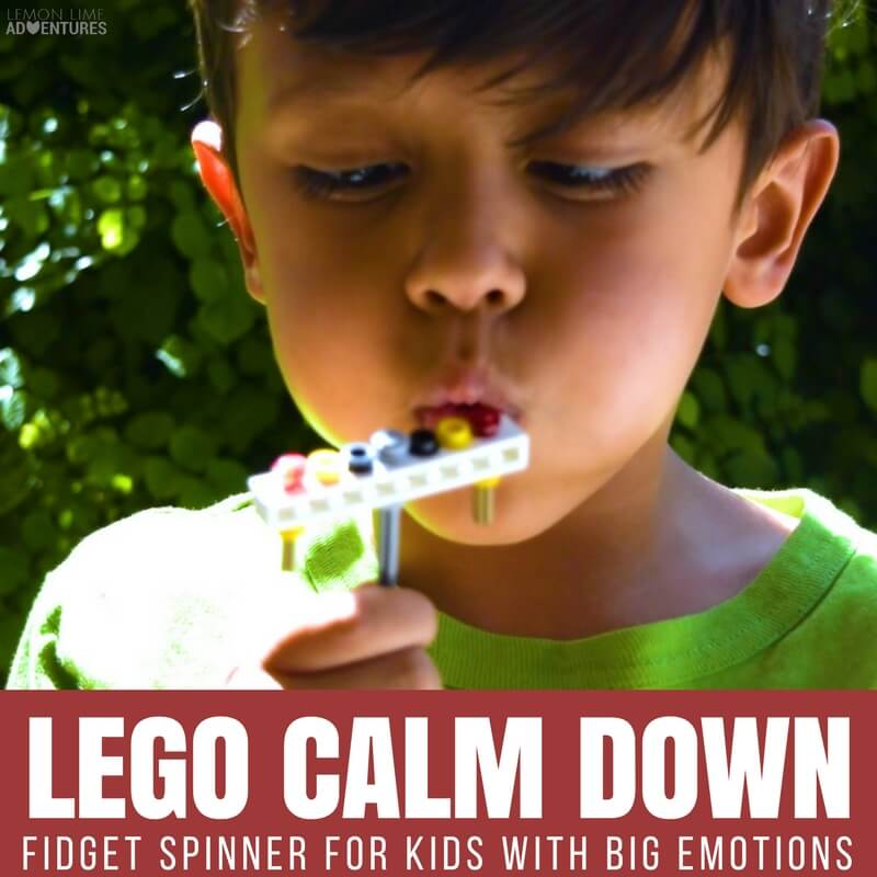 LEGO CALM DOWN Fidget Spinner for Kids with Big Emotions