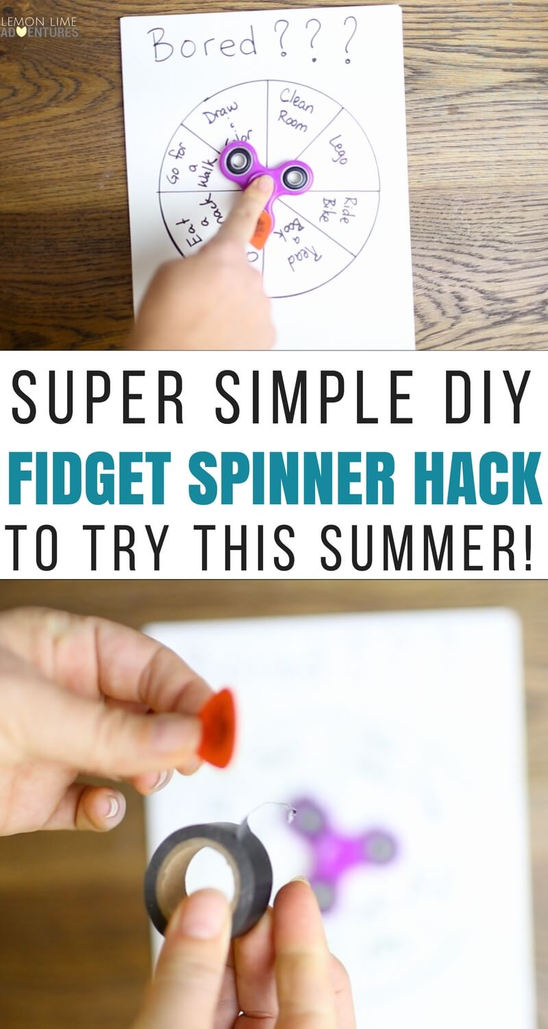 Super Simple DIY Fidget Spinner Hack to Try This Summer!