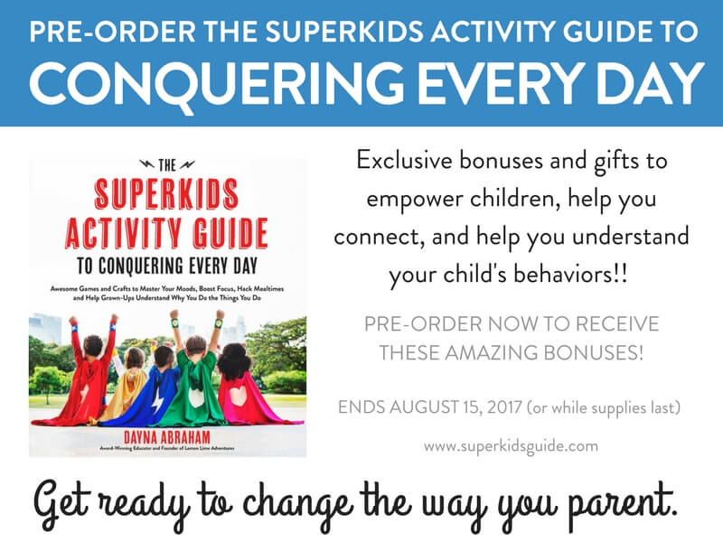 PREORDER The Superkids Activity Guide to Conquering Every Day- parents