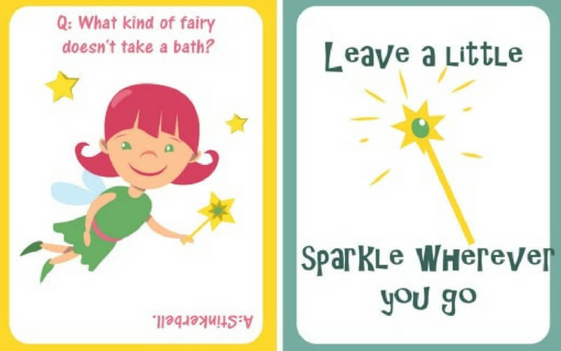Super Sweet Fairy Tale Printable Lunch Notes for Back to School