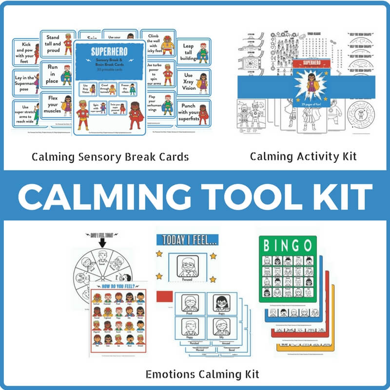 The Complete Superhero Calming Tool Kit Bundle!