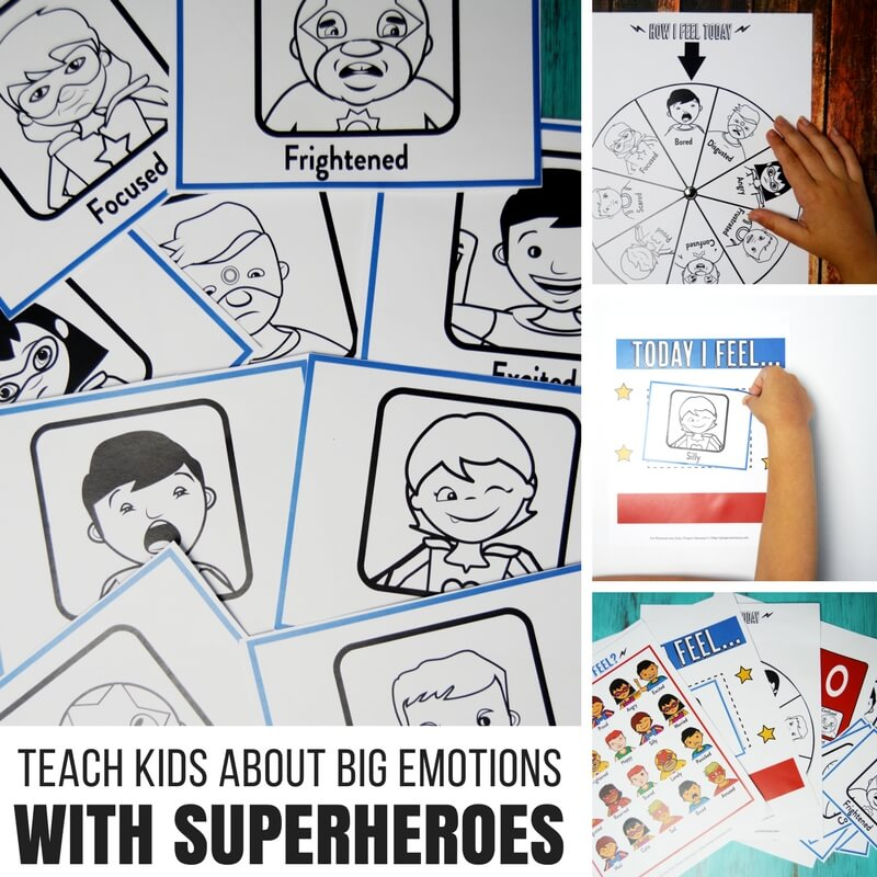 Teach Kids About Super Big Emotions with Superheroes!
