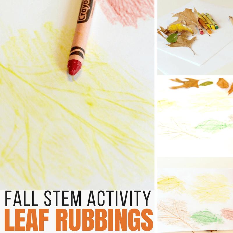 Fall Leaf Rubbing Sensory Activity!