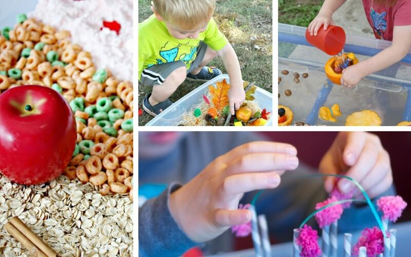 20 Totally Awesome Fall-Themed Sensory Bins