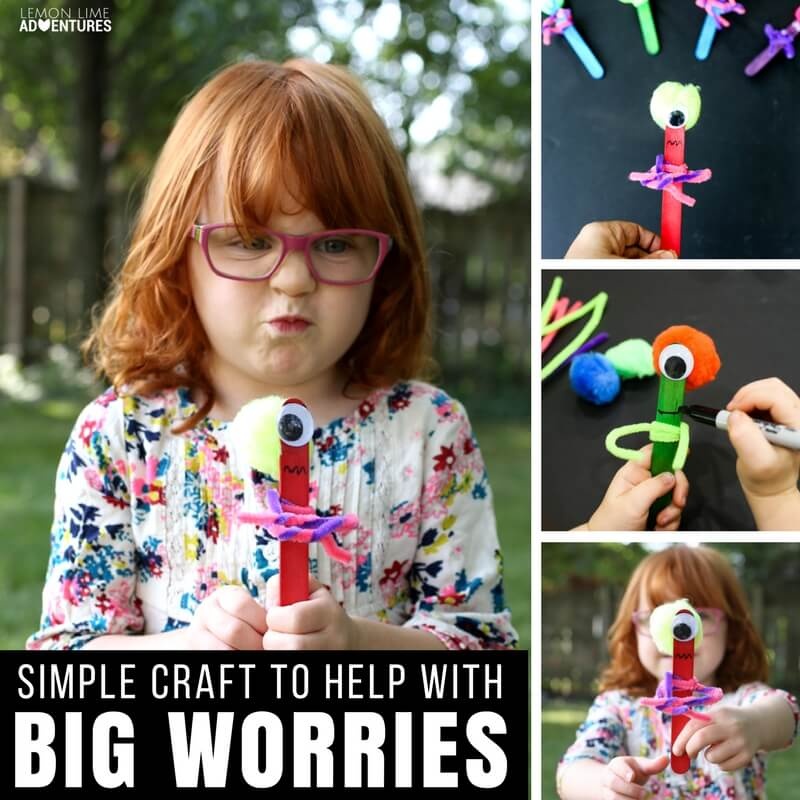 A Brilliant Way to Help Kids with Big Worries - Worry Monster Craft