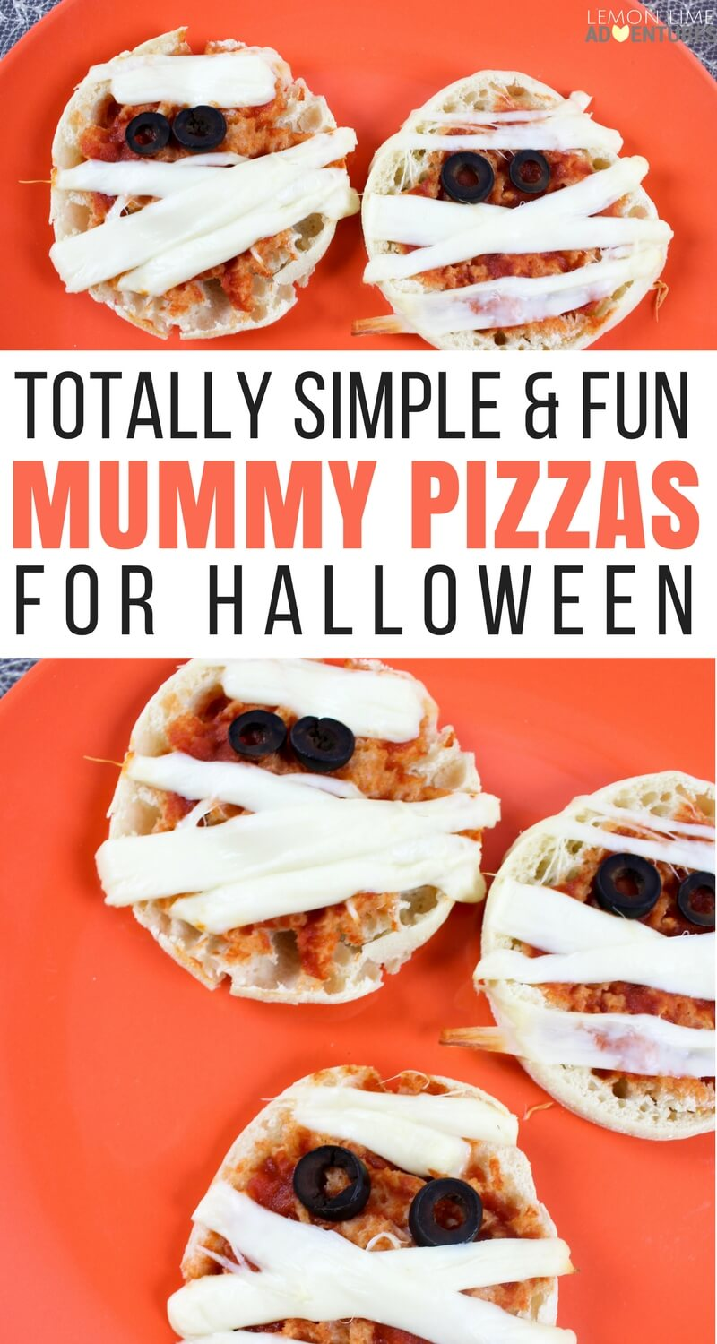 Totally Simple & Fun Mummy Pizzas for Halloween